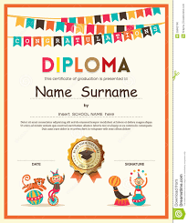 elementary diploma certificate template