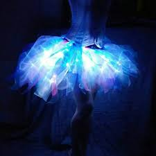 Led Halloween Costume Bold Arctic Jellyfish 60 Led Tutu Skirt Organza