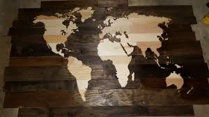 wood world stained wood world map 4 x6 with wood burned outline album on