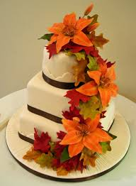 traditional wedding cakes media cakecentral fall colors