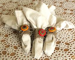 eco chic button napkin rings think crafts by createforless
