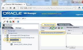 ovm console how to add iscsi storage array to ovm unixarena