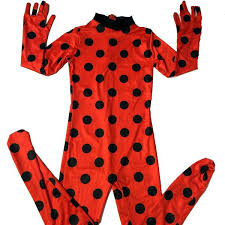 spandex ladybug halloween costume party bag costume for toddler