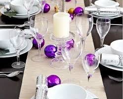 tabletop decorating ideas smart placement purple and silver christmas table decorations ideas