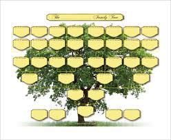 5 generation family tree template u2013 10 free sample example