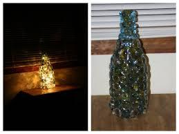 Wine Bottles With Lights Diy Homemade Twinkle Nightlight