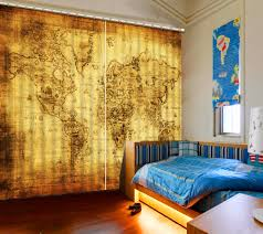 china home decor customize 3d curtains creative map bamboo door curtains window