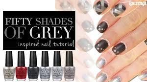 diy cute u0026 easy nail art for beginners 23 50 shades of gray