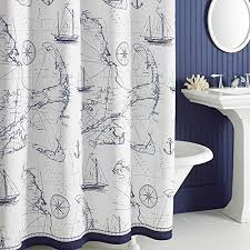 Bathroom Shower Curtain by Shower Curtain Nautical Amazon Com