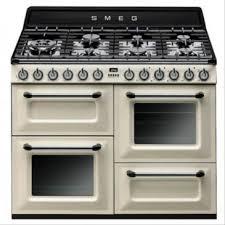 piano cuisine smeg smeg tr4110p1 piano de cuisson mixte blanc brun