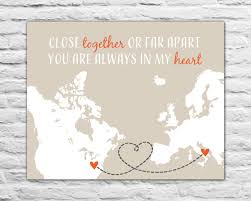 gift for best friend long distance military personalized print