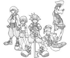 kingdom hearts 2 coloring pages murderthestout