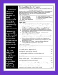 Preschool Teacher Resume Sample by Sample Of Teacher Resume For Preschool Teacher Resume Sample Page