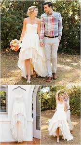 outdoor wedding dresses high low hem wedding dress by peppermint pretty light chagne