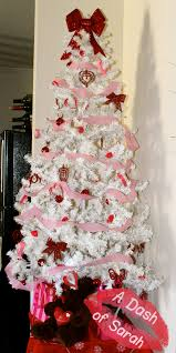 cute valentinesday tree using a white christmas tree