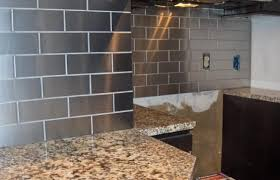 Brushed Stainless Steel Backsplash by Charming Stainless Steel Backsplash Creative With Budget Home