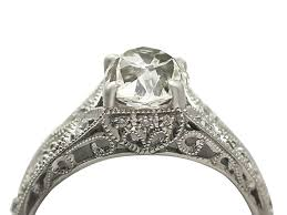 solitare ring 1900s 1 18 carat diamond and contemporary platinum solitaire ring