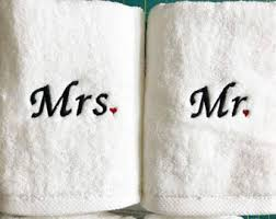 his and hers wedding gifts couples towels etsy