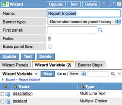 define a wizard variable servicenow docs