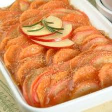 yam and apple casserole with citrus sauce http