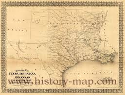 Old Texas Map Civil War Map