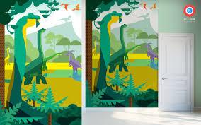 deco chambre dinosaure poster mural dinosaure papier peint enfants