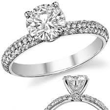pave engagement rings images Pave moissanite engagement ring jpg