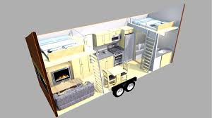 tiny home on trailer escape homes traveler layout with couch tikspor