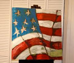 Painting A Flag Palette Knife Painters Stars And Stripes Palette Knife U S
