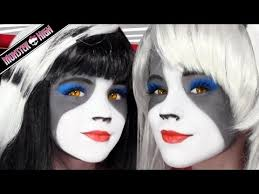the werecat sisters monster high doll costume makeup tutorial for cosplay or emma shows