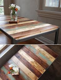 Diy Reclaimed Wood Side Table by Best 25 Pallet Table Top Ideas On Pinterest Reclaimed Wood
