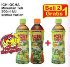 Teh Ichi Oca promo harga ichi ocha minuman teh all variants 500 ml indomaret