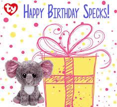 yipee today specks elephant u0027s birthday beanie boos