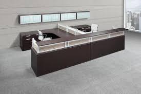 Gray Reception Desk High End Reception Desks Madison Liquidators