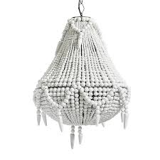 bead chandelier large white beaded chandelier by out there interiors