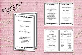 deco wedding program printable wedding program template great gatsby style deco