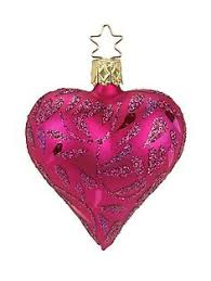 inge glas alpine knit heart small christmas ornament christmas