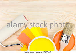 set of colorful paint roller brush vector illustration stock