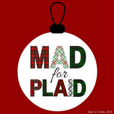 plaid christmas two ingredient chocolate mousse with plaid chocolate garnish mad