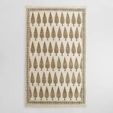 5x8 gray block print cotton amalia area rug world market