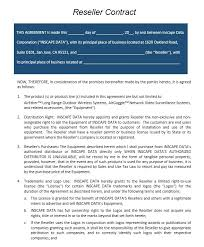 6 free reseller agreement templates u2013 stationery templates