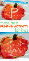 mess free pumpkin craft for kids sensory play color mixing and