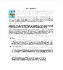 Dog Daycare Floor Plans by Daycare Business Plan Template 9 Free Word Excel Pdf Format