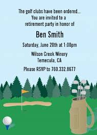 retirement invitations golf retirement party invitations candles and favors