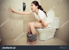 Stomach Pain When Using Bathroom Attractive Lovely Woman Feeling Stomach Ache Stock Photo 651961651