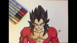 drawing vegeta super saiyan 4 dragon ball gt draw hero