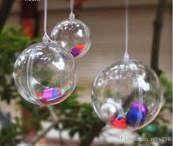 16 cm big balls classic transparent plastic balls
