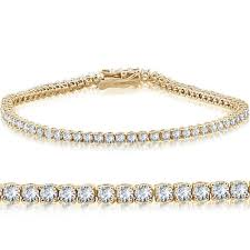 bracelet tennis diamond images 14k yellow gold 3 ct round cut diamond tennis bracelet 7 quot jpg