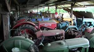 Tractor Barn Old Tractors Part 4 Old Tractors And Farm Machinery Stored In