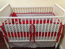 Gray And White Chevron Crib Bedding Custom Crib Bedding Ashton Gray And White By Babybedding On Zibbet